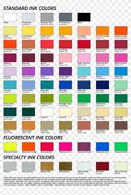Screen Print Color Chart Urbanfly Apparel Png Leukemia