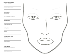 Makeup Charts Free Becoming A Makeup Artist Free Blank Mac Makeup Chart