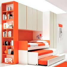 space saver bedroom furniture. Space Saver Double Bed Splendid Modern Saving Bedroom Furniture Sets For Kids Design With White Orange Bunk Along Pull Out Also Storage