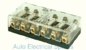 190772 continental fuse box 6 way with screw terminals 6v 12v packard electric pack-con iii at Fuse Box Terminals