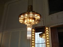 antique art deco chandelier flowers