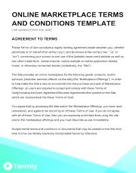 Service Agreement Samples Terms Of Service Agreement Template