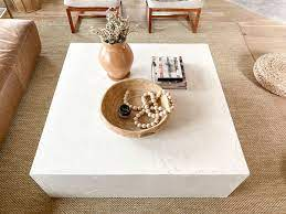 Determine the size of table top you'd like to make. Diy Cement Block Coffee Table