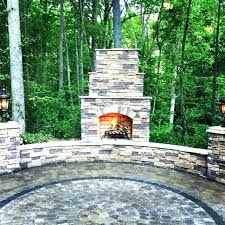 paver stone fireplace fireplace outdoor fireplace located in patio stone seat walls and fireplace plans paver paver stone fireplace