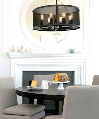 beacon lighting 8 light pendant in antique black with metal mesh shade lamps full size