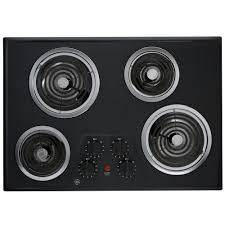 ge 30 in coil electric cooktop in black 4 elements jp328bkbb ge 30 in coil electric cooktop in black 4 elements