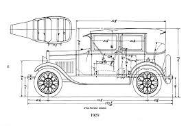 ford model a body dimensions motor hem 28 29 fordor sedan