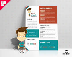 Free Psd Resume Templates Lovely E Page Brochure Template Free Fresh