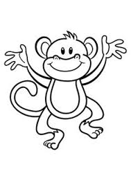 Small Picture Monkey Coloring Pages Monkey With Banana Coloring Page
