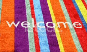 colorful welcome mat. Plain Colorful Premium Stock Photo Of Welcome Mat With Colorful Vertical Stripes O