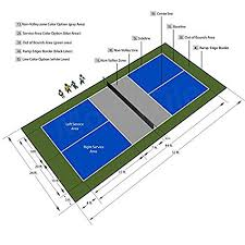 pickleball court size amazon com 26ft x 52ft outdoor pickleball court flooring lines and