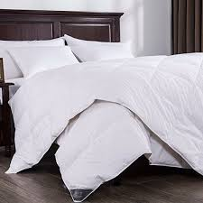 puredown lightweight white down comforter light warmth duvet insert 100 cotton 550 fill power