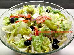olive garden salad with dressing sam s club pepperocini black olives tomatoes red onions