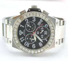 online watch auctions men s watches propertyroom com aqua master stainless steel chrono black dial diamond bezel men s watch