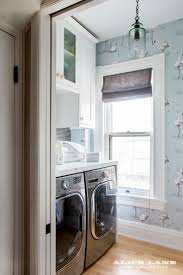 Laundry Room Wallpaper Designs Small Laundry Room Spaces Made Great With Baby Blue Printed
