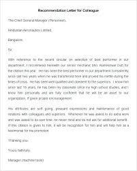Job Reference Letter General Recommendation For Employee From