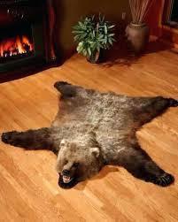bear skin rugs faux with head rug uk pattern