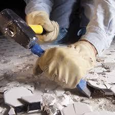 chisel up tiles