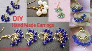 How To Design Earrings Jewellery How To Make Pearl Earrings At Home Crystal Earrings