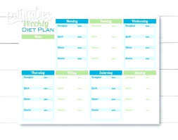 Printable Menu Planner Template – Happystand.co