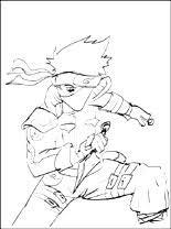 Kleurplaten Kakashi Hatake Naruto Gratis Kleurplaten