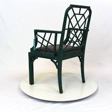 Hollywood Regency Chippendale Bamboo Rattan Chair