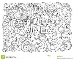 Small Picture Winter Coloring Page Stock Vector Image 68596101