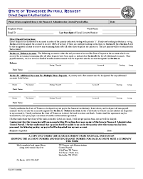 Direct Deposit Application Form Tennessee Edit Fill Sign