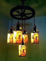 liquor bottle chandelier whiskey bottle chandelier chandelier pipe liquor liquor bottle chandelier kit