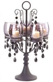 black beaded crystal chandelier candelabra candle holder wedding centerpiece2