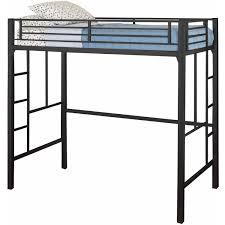black metal bunk bed. Twin Loft Bed Kids Bedroom Furniture Bunk Beds Dorm Bunkbed Black Metal Ladder L