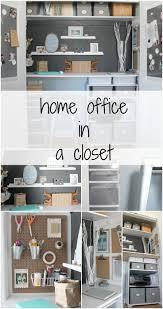 tiny office ideas. home office in a closet tiny ideas
