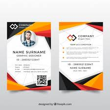 company id card templates id card template with abstract style vector free download
