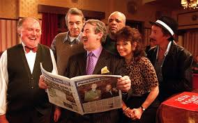 left to right roy heather roger lloyd pack john challis patrick barber