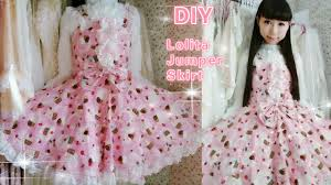 diy sew a cute cupcake jumper skirt in 2 hours easy for school you