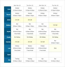 Nursing Schedule Template Letter Shift Planner Daily