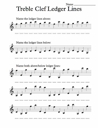 Worksheet Templates : Musical Words Treble Clef 1 Answers Learn ...
