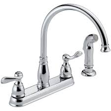 Kitchen Faucets With Sprayer Delta 21996lf Windemere Kitchen Faucet With Side Spray And Two