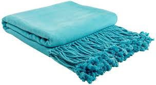 Bright Blue Throw Blanket
