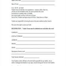 Vendor Form For An Event 410621728249 Event Vendor Contract
