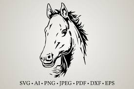 Vivid horses design vector eps file. Horse Clipart Graphic By Euphoria Design Creative Fabrica