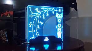 Blue Light Ps4 Pro God Of War Ps4 Pro Skin Lights Up Awesome News Of