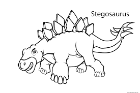 Small Picture Printable stegosaurus dinosaur coloring pages for kidsFree
