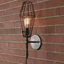 industrial chic lighting. industrial chic work light sconce large rust lighting t
