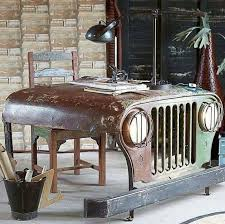 Jeep hood desk - love this! Featured on Baa Baa Black Jeep.