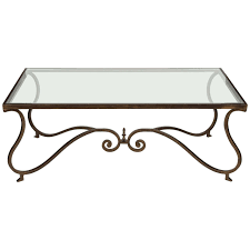 Iron And Glass Coffee Table Wrought Iron Coffee Table With Glass And Wooden Round Metal Ova