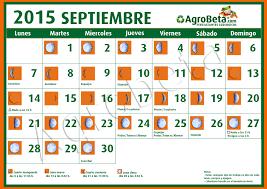 Calendario Lunar Para Septiembre De 2015 Blog De Agrobeta Com