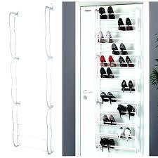 over the door shoe storage door mounted shoe racks closet door shoe storage closet door mounted