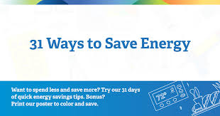 Save Electricity Chart 31 Ways To Save Energy In Your Home