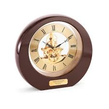 employee gifts rosewood interactive gear clock personalized desk clock